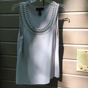 CABLE & GAUGE Rhinestone sleeveless blouse